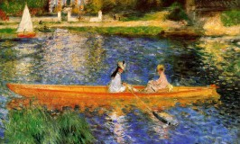 pierre auguste renoir-the seine at asnieres the skiff